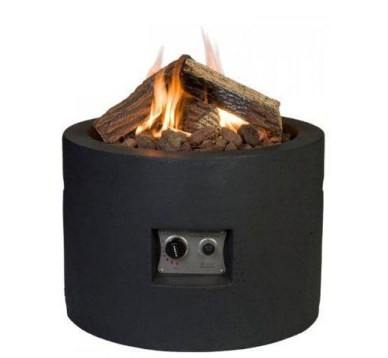 round gas fire Cocoon black