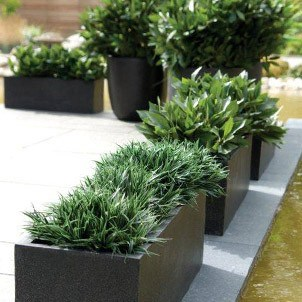 Lightweight Terrazzo Trough Planters Planters And Pots