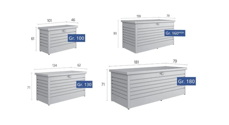 Leisuretime Storage Box Sizes - Garden Storage Solutions Dublin