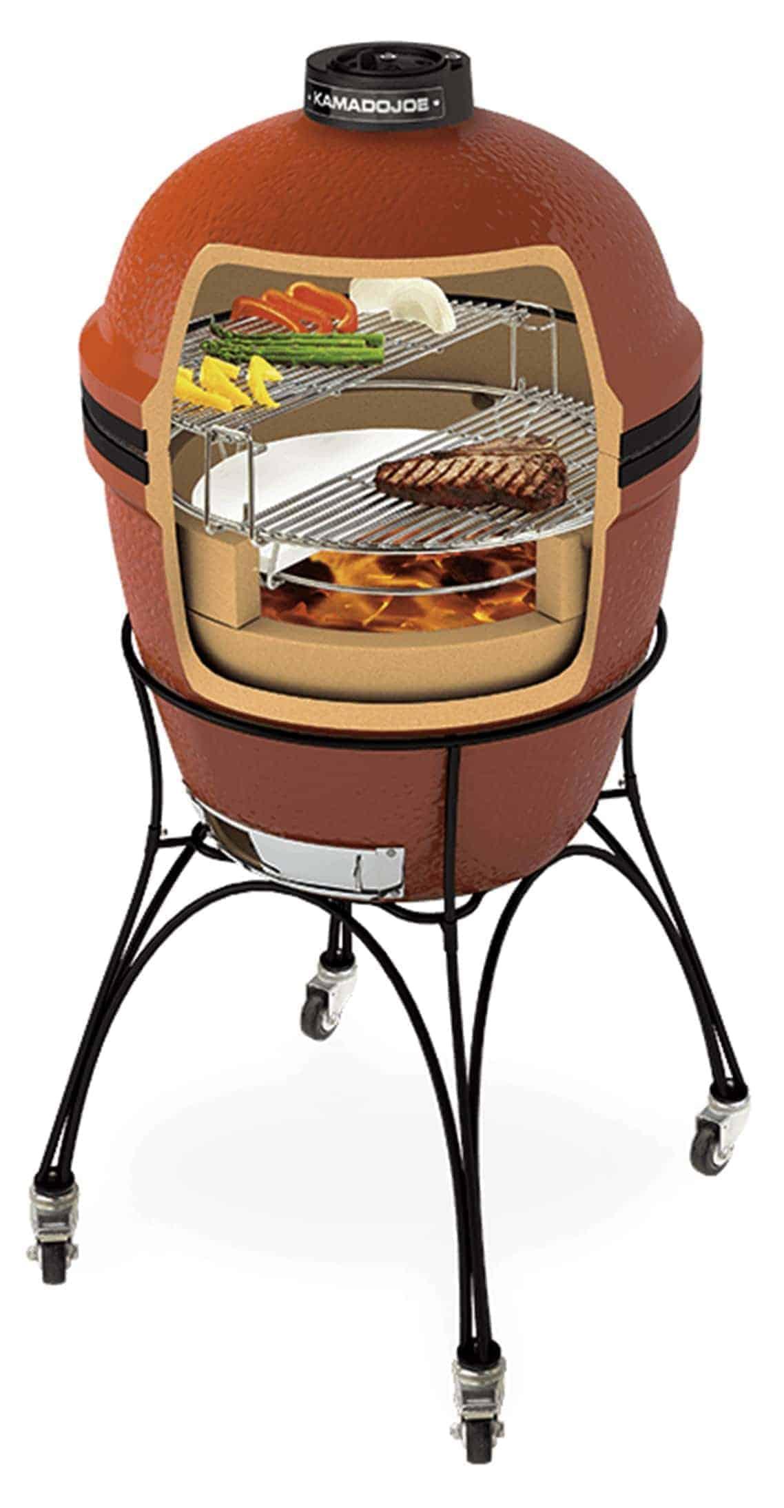Kamado Joe Classic Bbq Charcoal Barbecues Wood Fired