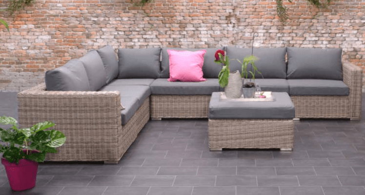 outdoor garden sofa grey