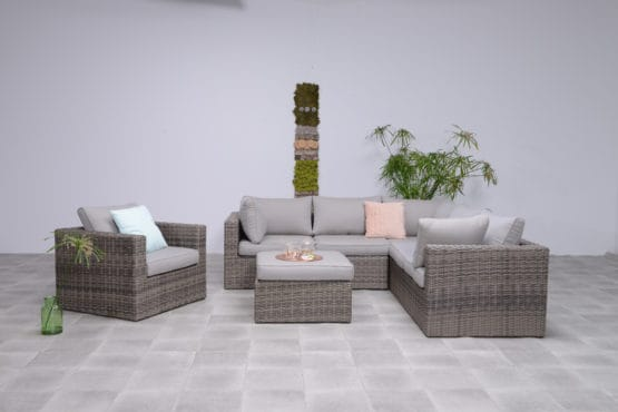 The Sousse Corner Sofa Set - Kubu Grey - Outdoor Furniture For Sale Dublin Ireland