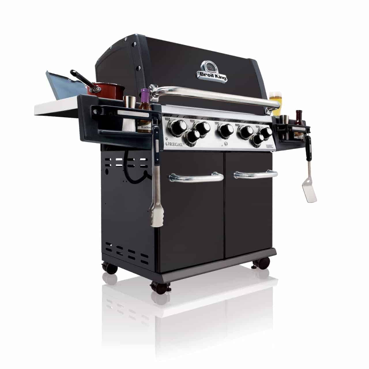 regal broil king grill natural gas broil king regal 590 pro black 958283 all gas barbecues. Black Bedroom Furniture Sets. Home Design Ideas