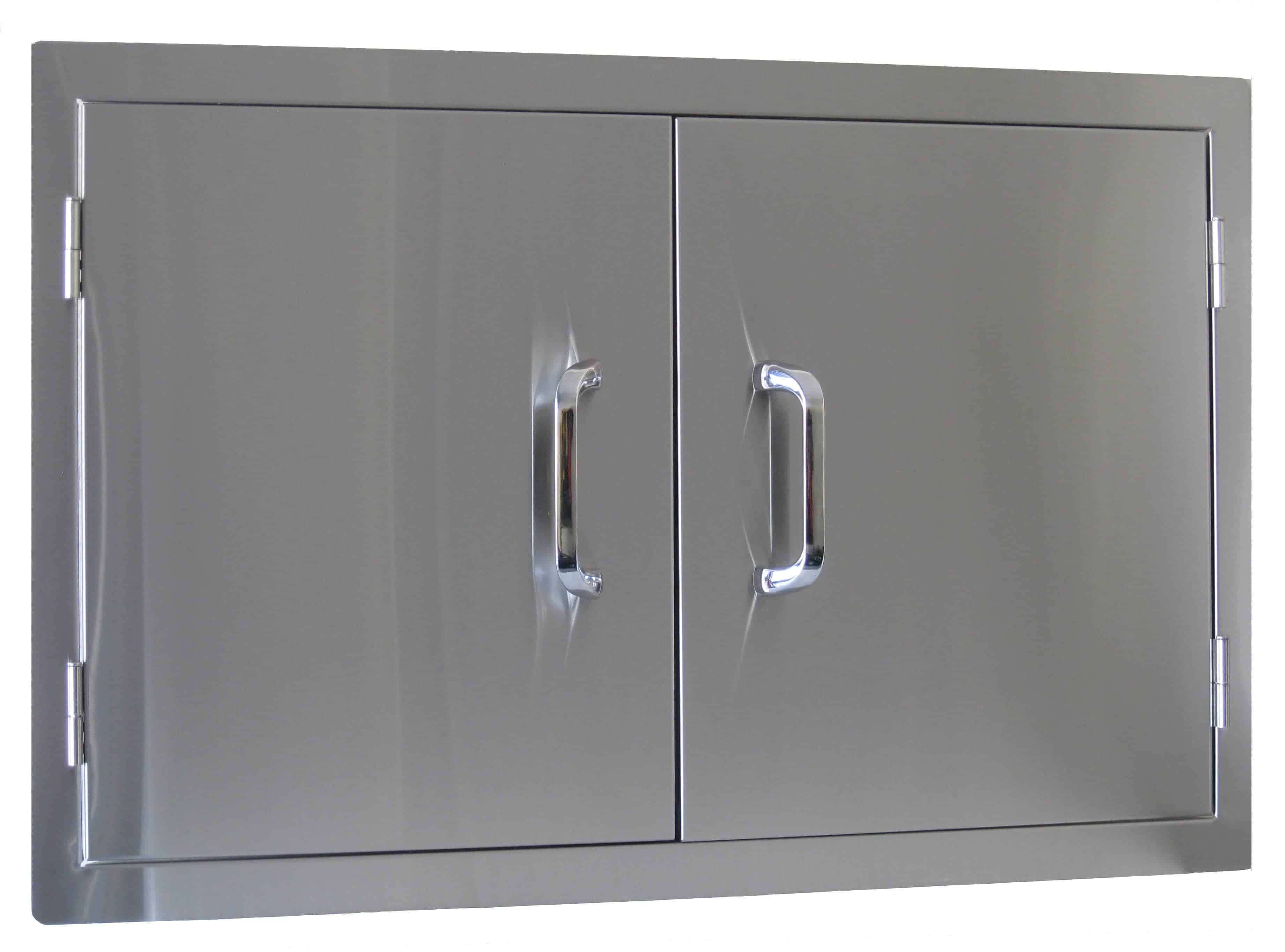 77440odk2s beefeater artisan kitchen straight stainless for Outdoor double doors