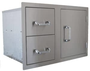 24230 Beefeater Dual Drawer and single Door Combination