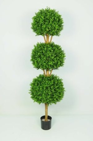 Artificial Boxwood 3-Ball on Stem
