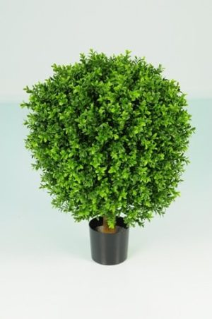 Artificial Boxwood Ball In a Pot