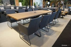 Los Marcos Outdoor Dining Table 280 x 100cm With 8 Outdoor Chairs