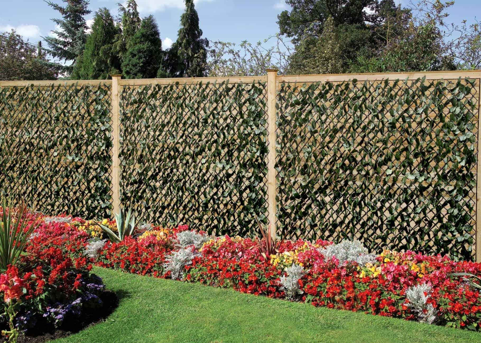 Wonderwal artificial hedge screening trellis ivy for Outdoor wall coverings garden