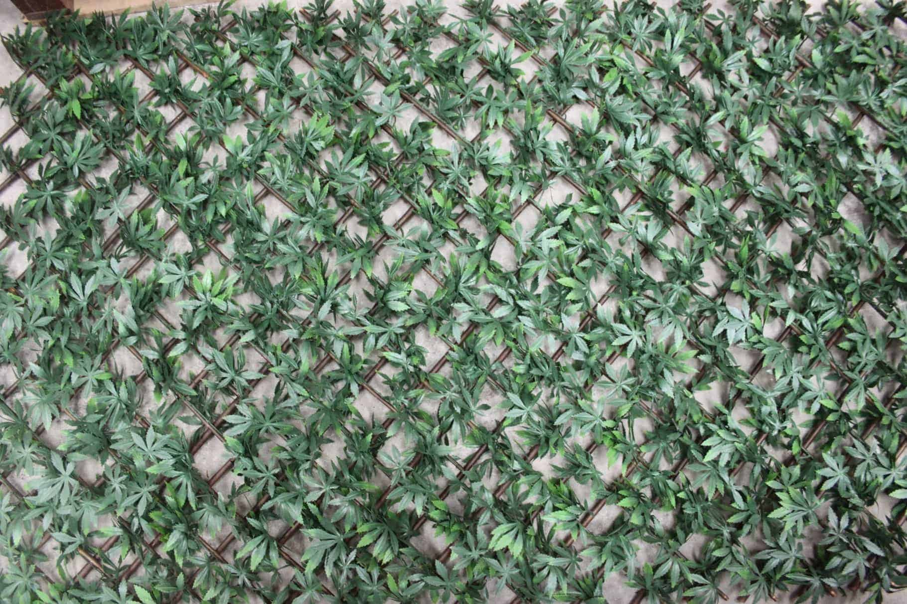 wonderwal artificial hedge screening trellis green acer artificial garden wall coverings