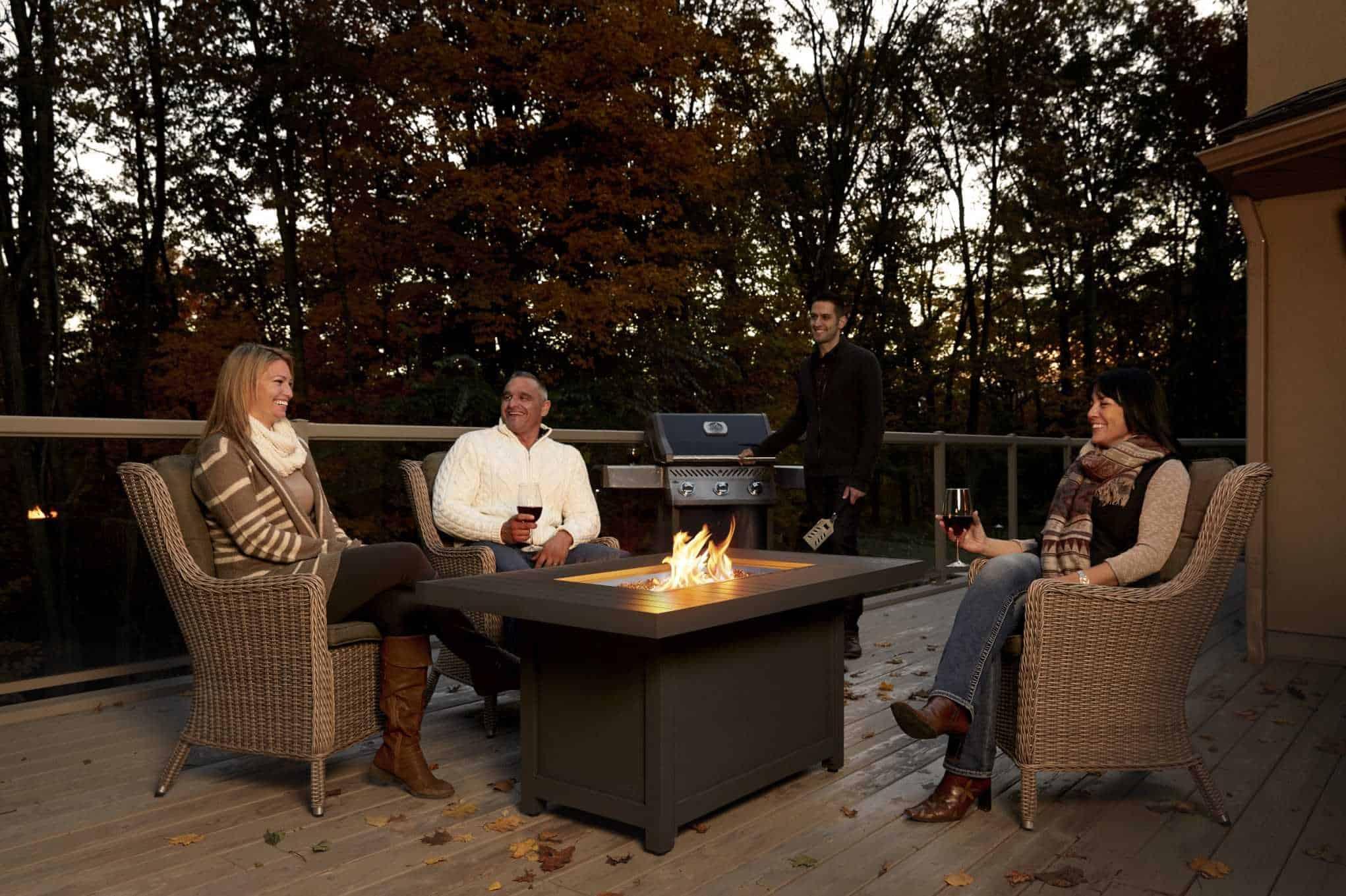 Victorian Rectangular Outdoor Gas Fire Table Outdoor Heating