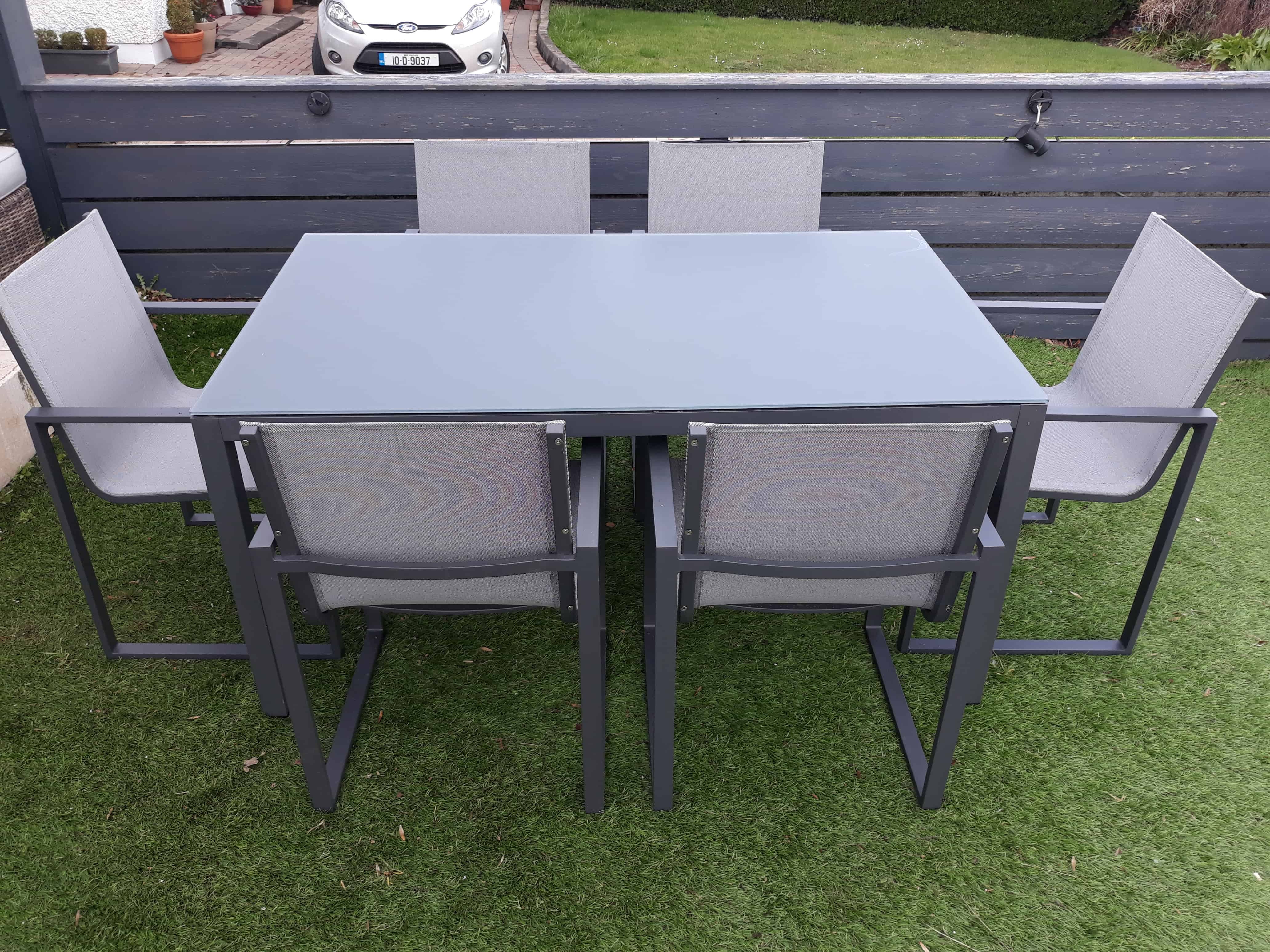 Lisbon 6 seat dining set charcoal outdoor furniture for sale dublin ireland