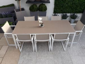 Lisbon 8 Seat Dining Set Charcoal Chair - Outdoor Furniture For Sale Dublin Ireland