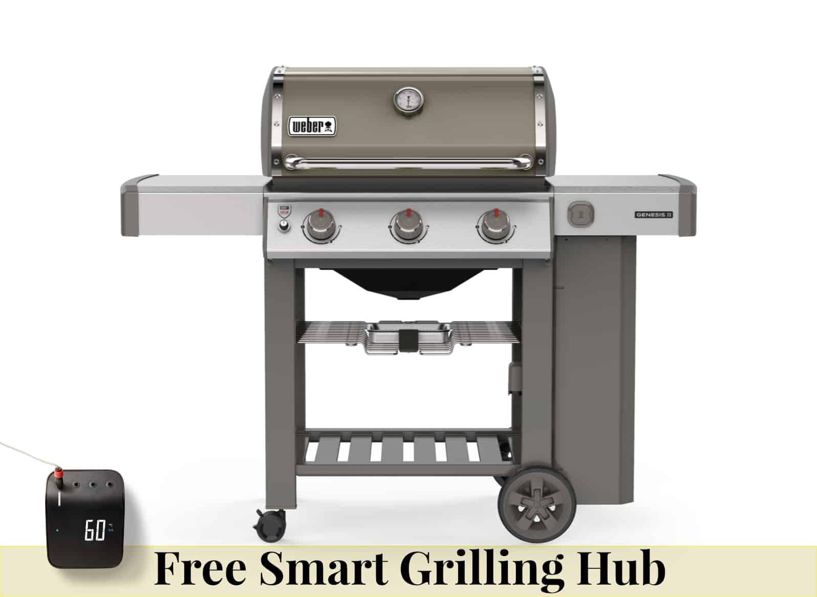 Weber Genesis II E310 Smoke Grey Gas Barbecue & Free Grilling Hub - BBQs For Sale Dublin Ireland