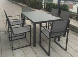 Lisbon 6 Seat Dining Set Charcoal4 - Outdoor Furniture For Sale Dublin Ireland