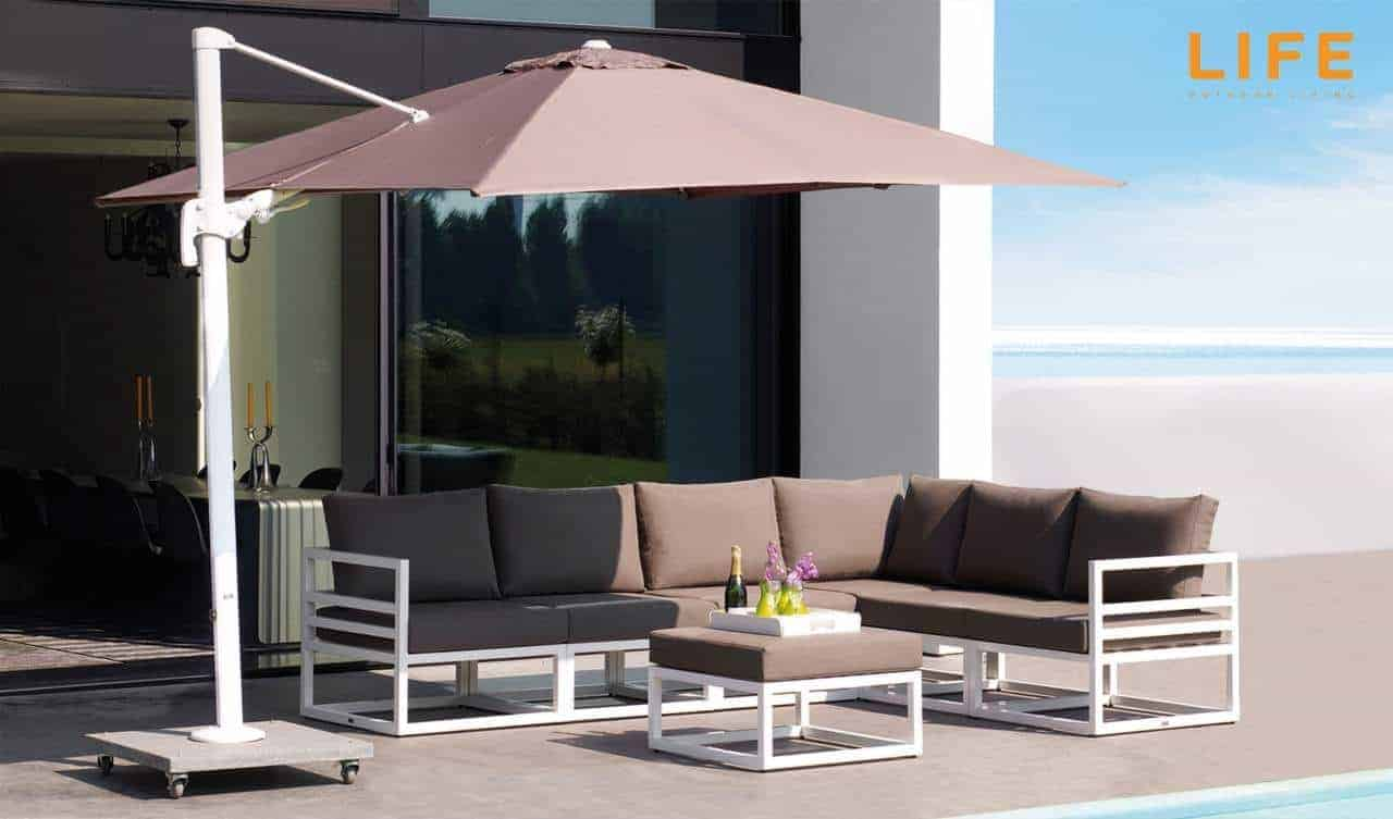 Palermo m side elevated parasol parasols shades garden