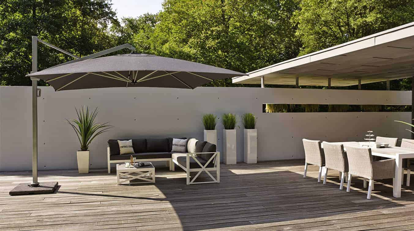 solarflex t2 side elevated parasol 3 x 3m anthracite. Black Bedroom Furniture Sets. Home Design Ideas