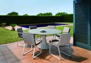 Fano 110cm 4 Seat Dining Set with Verona Arm Chair