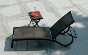 Derby Aluminum Sling Sun Lounger - Charcoal