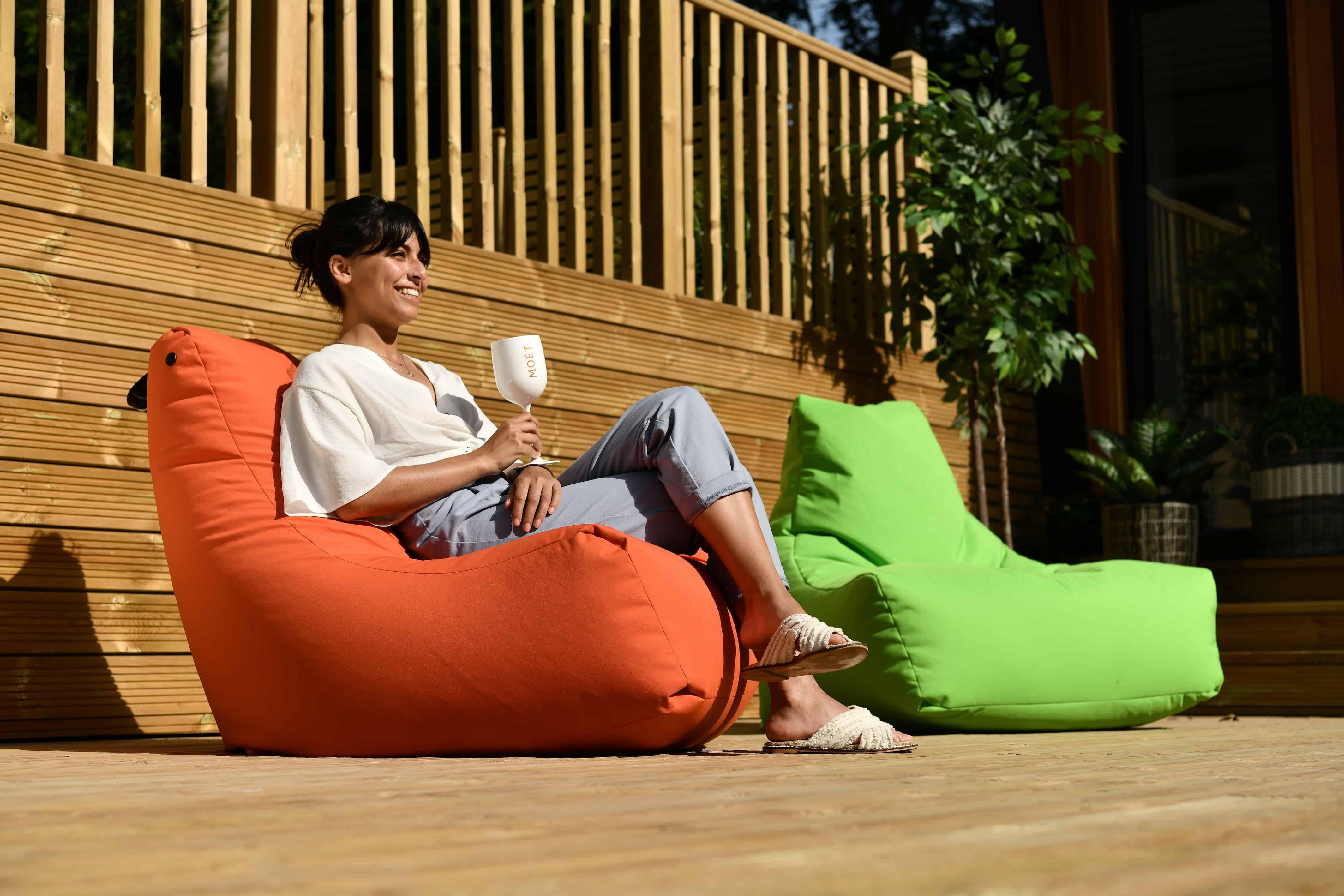 Remarkable Extreme Lounging Outdoor Bean Bag Orange Cjindustries Chair Design For Home Cjindustriesco