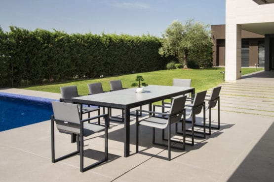 Fermo Charcoal dining set