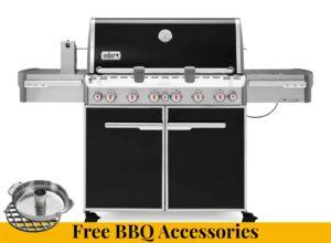 Weber Summit E-670 Gas Barbecue + FREE BBQ ACCESSORIES