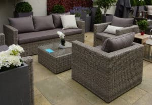 Patros 3 Seater Outdoor Sofa Set - Rattan Furniture For Sale Dublin Ireland