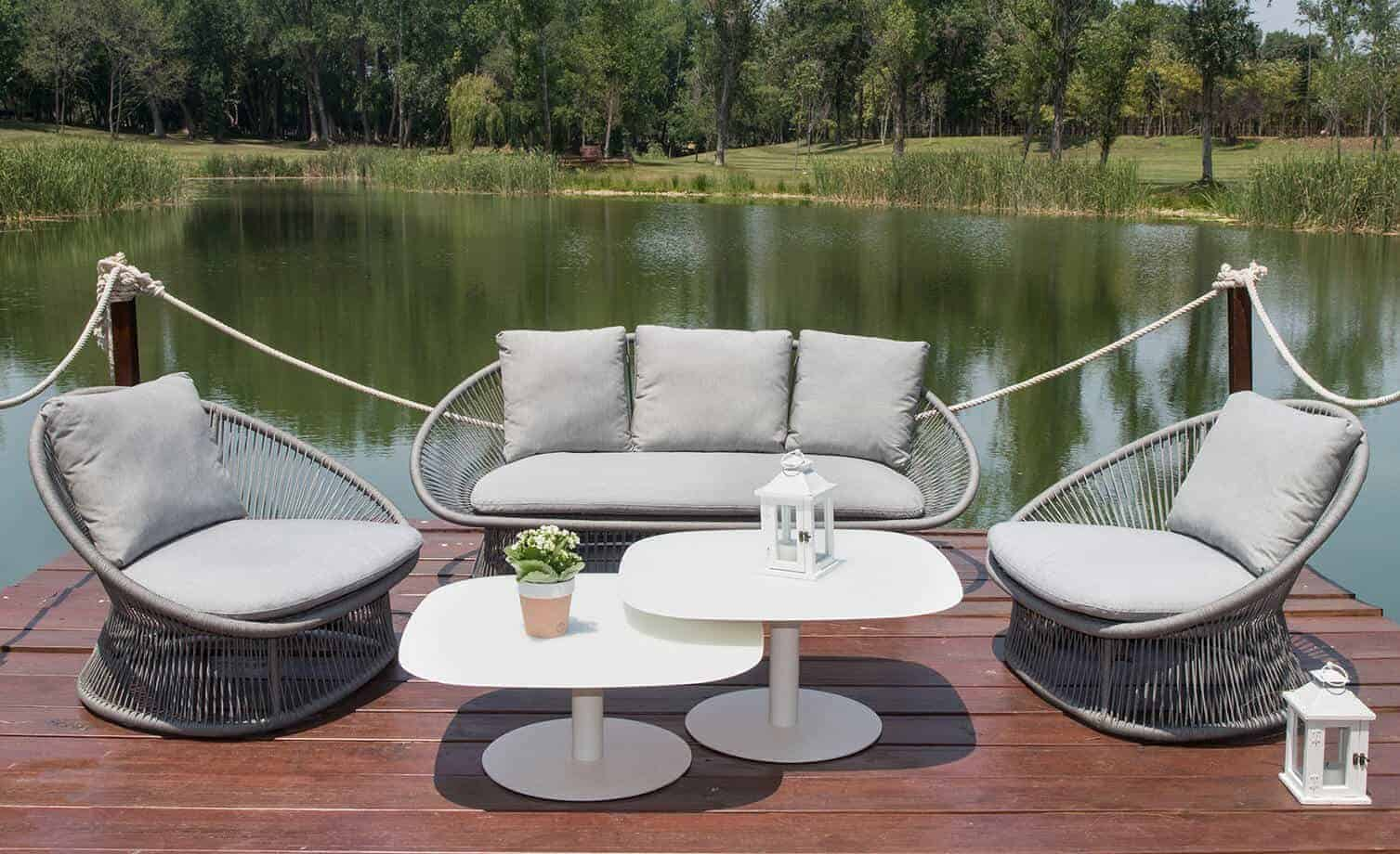 Spade alu round rope collection outdoor furniture for sale dublin ireland