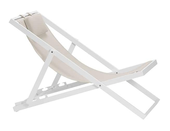 Xanthus Deck Chair White Outdoor Furniture For Dublin Ireland