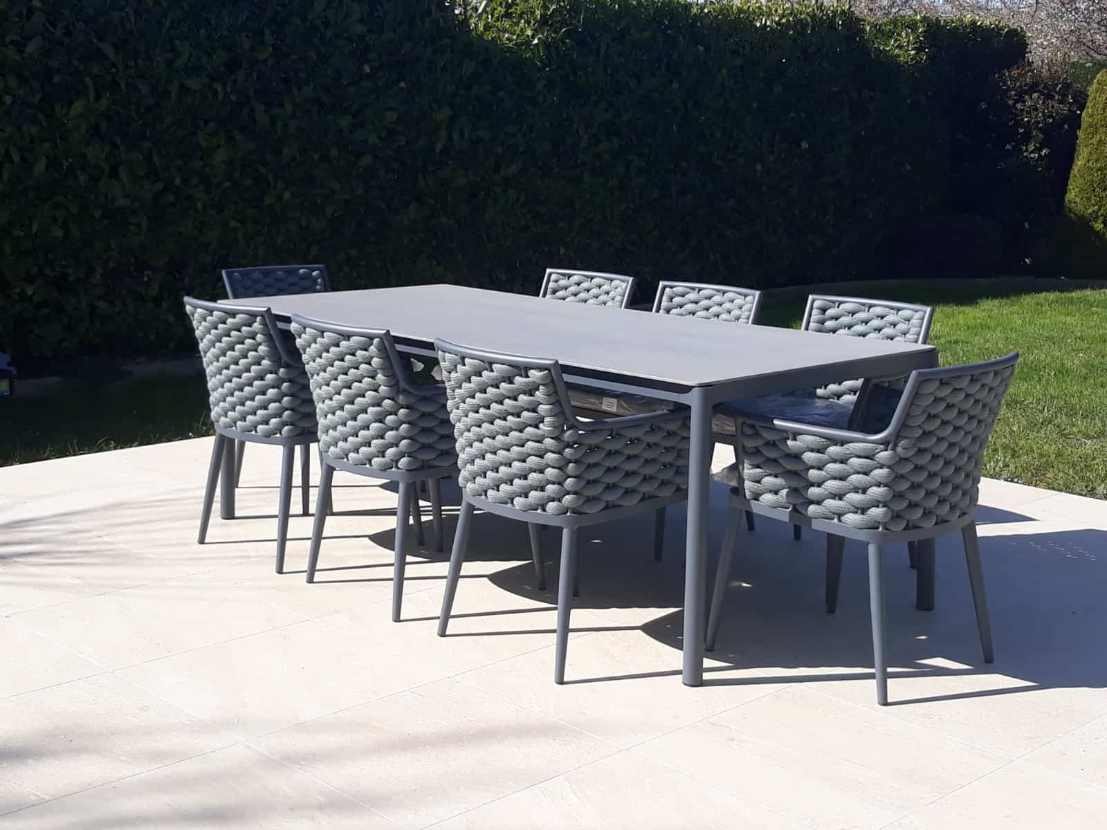 Leon 8 Seat Dining Set Garden Furniture Garden Furniture Dining