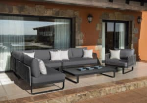 VERONA SOFA SET charcoal - Outdoor Furniture For Sale Dublin Ireland