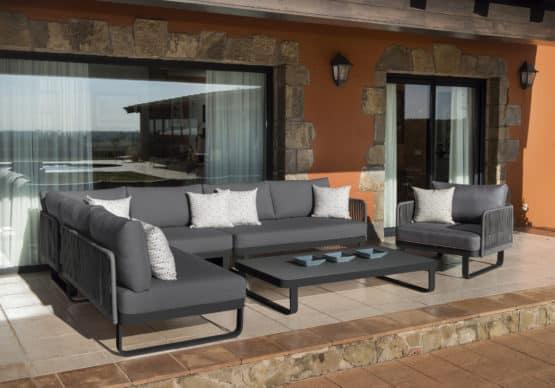VERONA SOFA SET charcoal - Outdoor Furniture For Sale Dublin Ireland