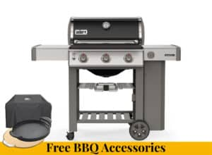 WEBER Genesis II E-310 GBS Black + FREE BBQ ACCESSORIES