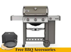 WEBER Genesis II E-310 GBS Smoke Grey + FREE BBQ ACCESSORIES