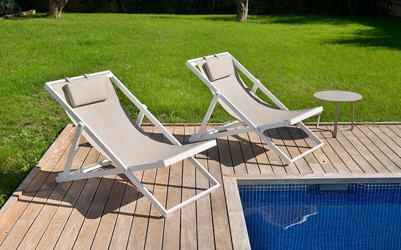 Xanthus deck chair - Outdoor Furniture For Sale Dublin Ireland