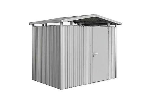Panorama Biohort Storage Shed Metallic silver