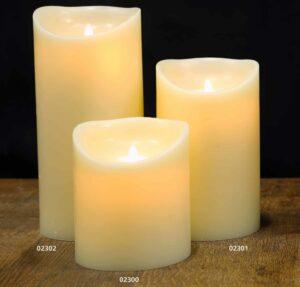 Flame Led Wax Candle Ivory