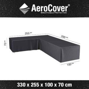 AeroCovers -  L-Shaped Garden Sofa Set Furniture Cover Left 330x255x100xH70