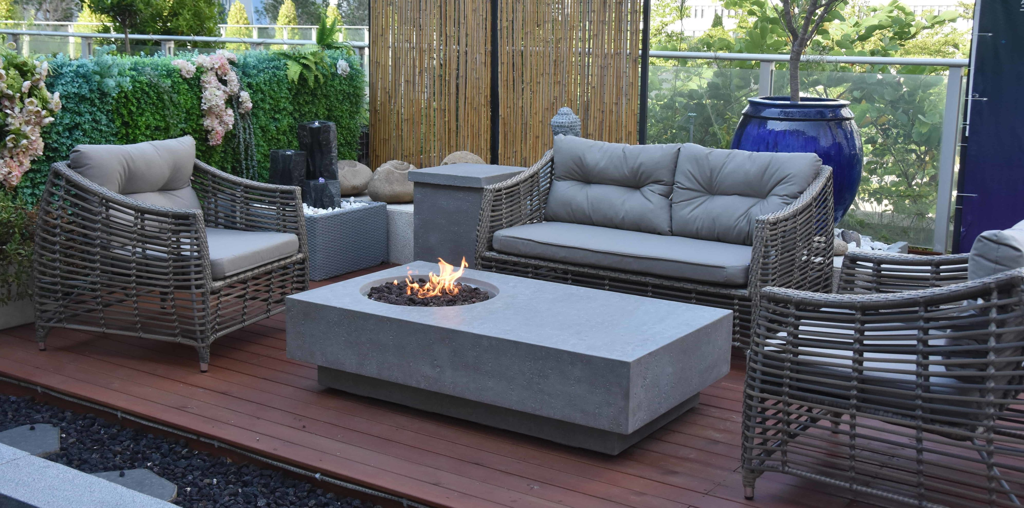 Athens Outdoor Gas Fire Pit