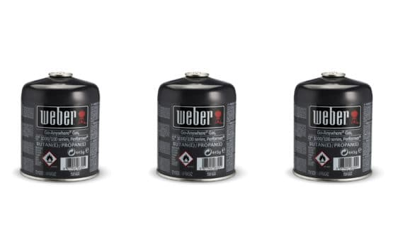 Weber Disposable Gas Canister - Triple Pack - 17669