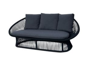 Spade Alu Round Rope Two Seat Sofa
