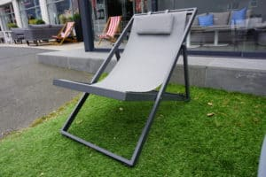 Xanthus Sling Deck Chair - Charcoal Frame