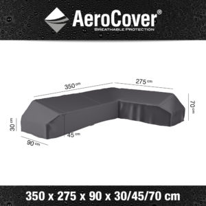 AeroCovers - Lounge Furniture Cover L-Shape Large 350x275x90x30/40/70cm