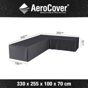 AeroCovers - Garden Furniture Cover L-Shape Right 330x255x100xH70