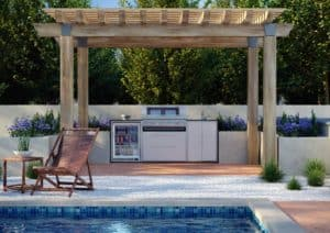 ProFresco Signature 5 Trio Outdoor Kitchen White - Outdoor Kitchens Dublin