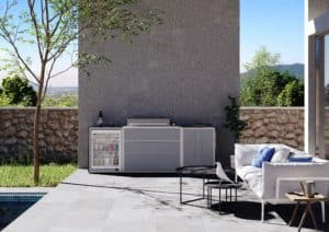 ProFresco Proline 6 Trio Outdoor Kitchen Silver Grey - Outdoor Kitchens Dublin