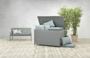 Cambridge Aluminium Cushion Box - Garden Storage Boxes For Sale Dublin Ireland