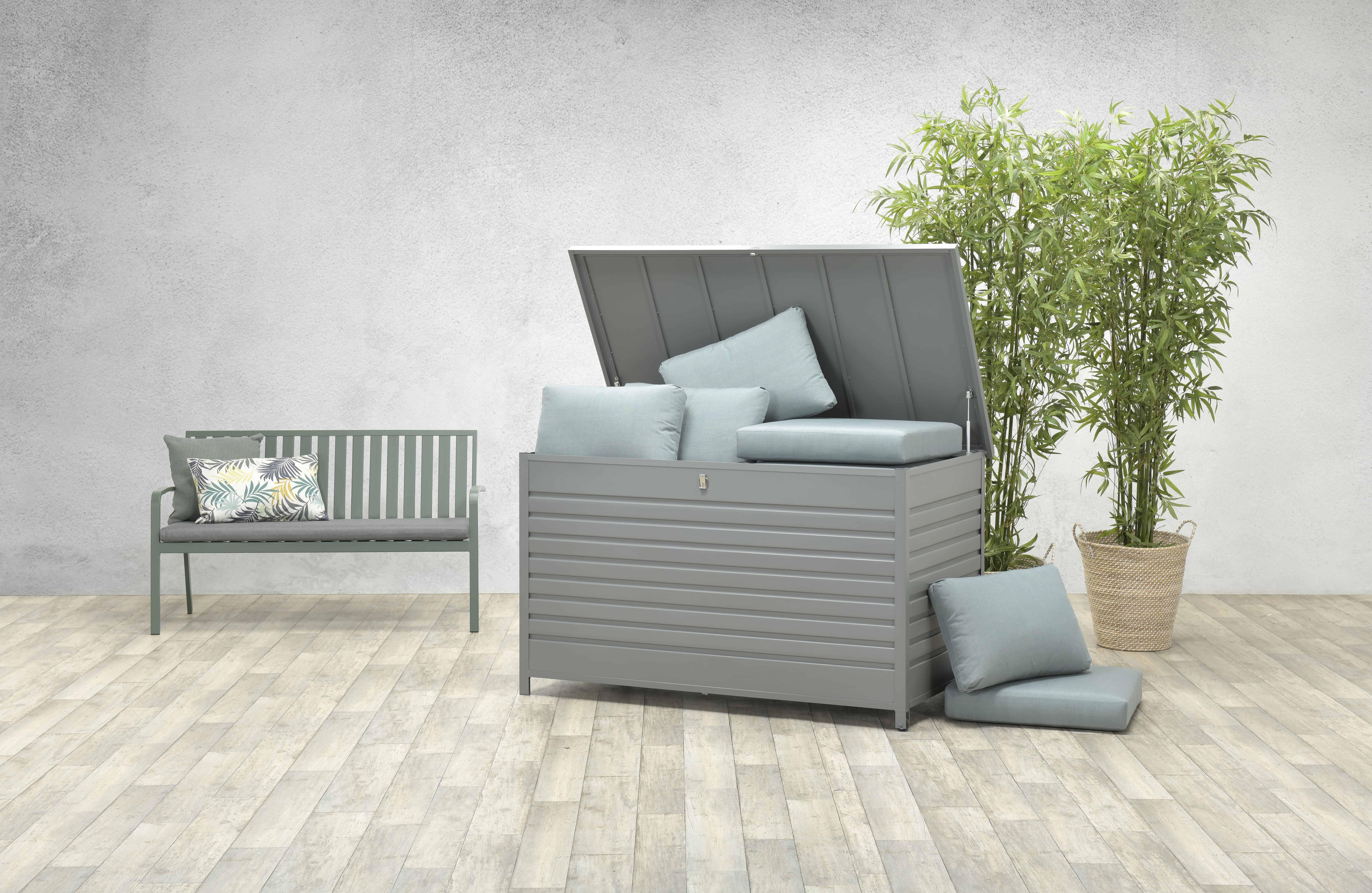 Cambridge Aluminium Cushion Box Garden Storage Plastic Outdoor