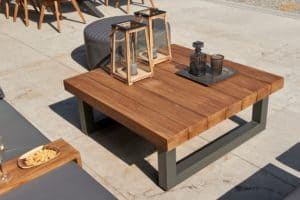 Siena Teak Top Outdoor Coffee Table - Outdoor Garden Furniture For Sale Dublin Ireland