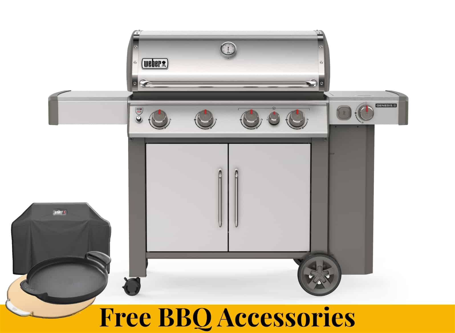 Weber Genesis II SP-435 + Free BBQ Accessories - Weber Barbecues For Sale Dublin Ireland